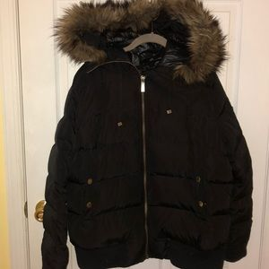 Michael Kors size XL black puffer coat
